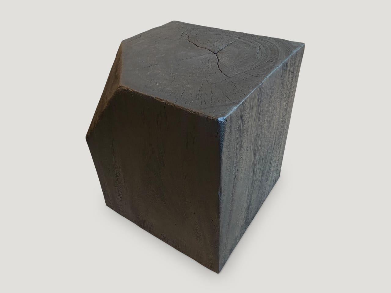 modular charred suar wood side table
