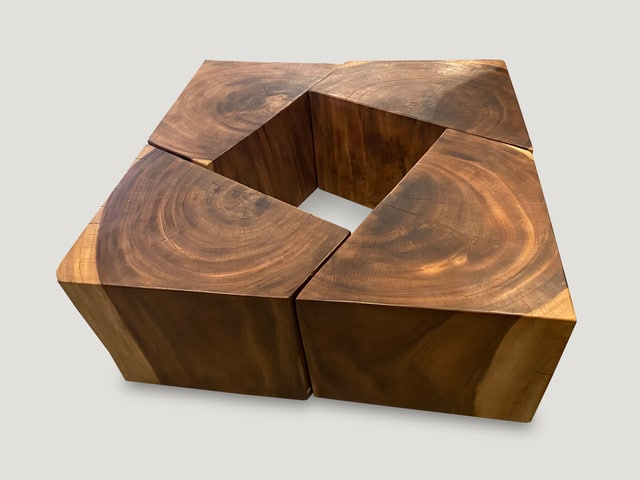 RECLAIMED WOOD MODULAR COFFEE TABLE OR SIDE TABLES