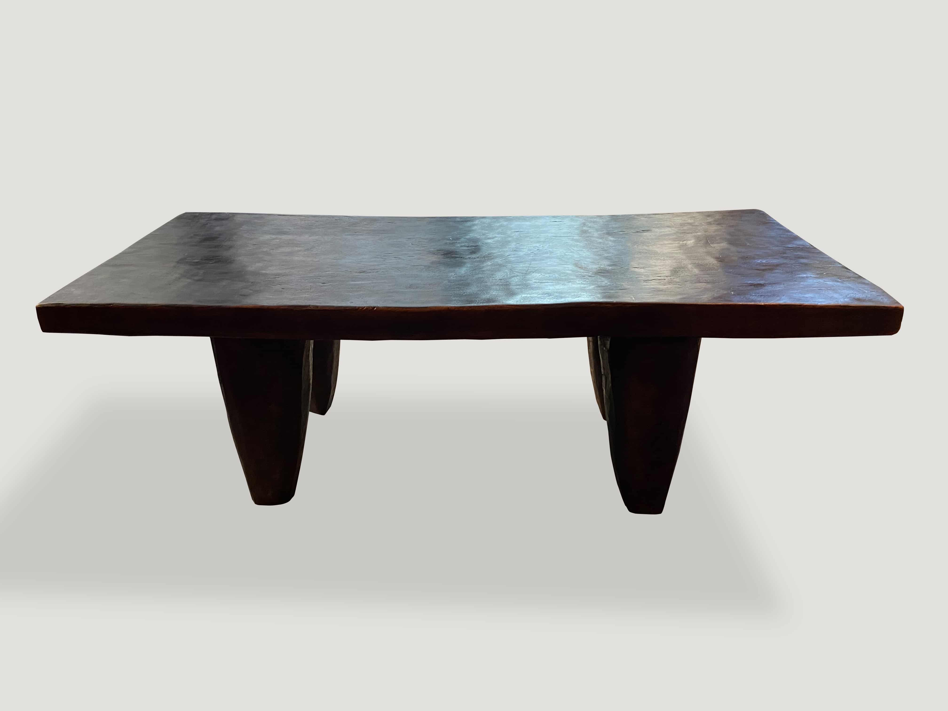 iroko wood coffee table