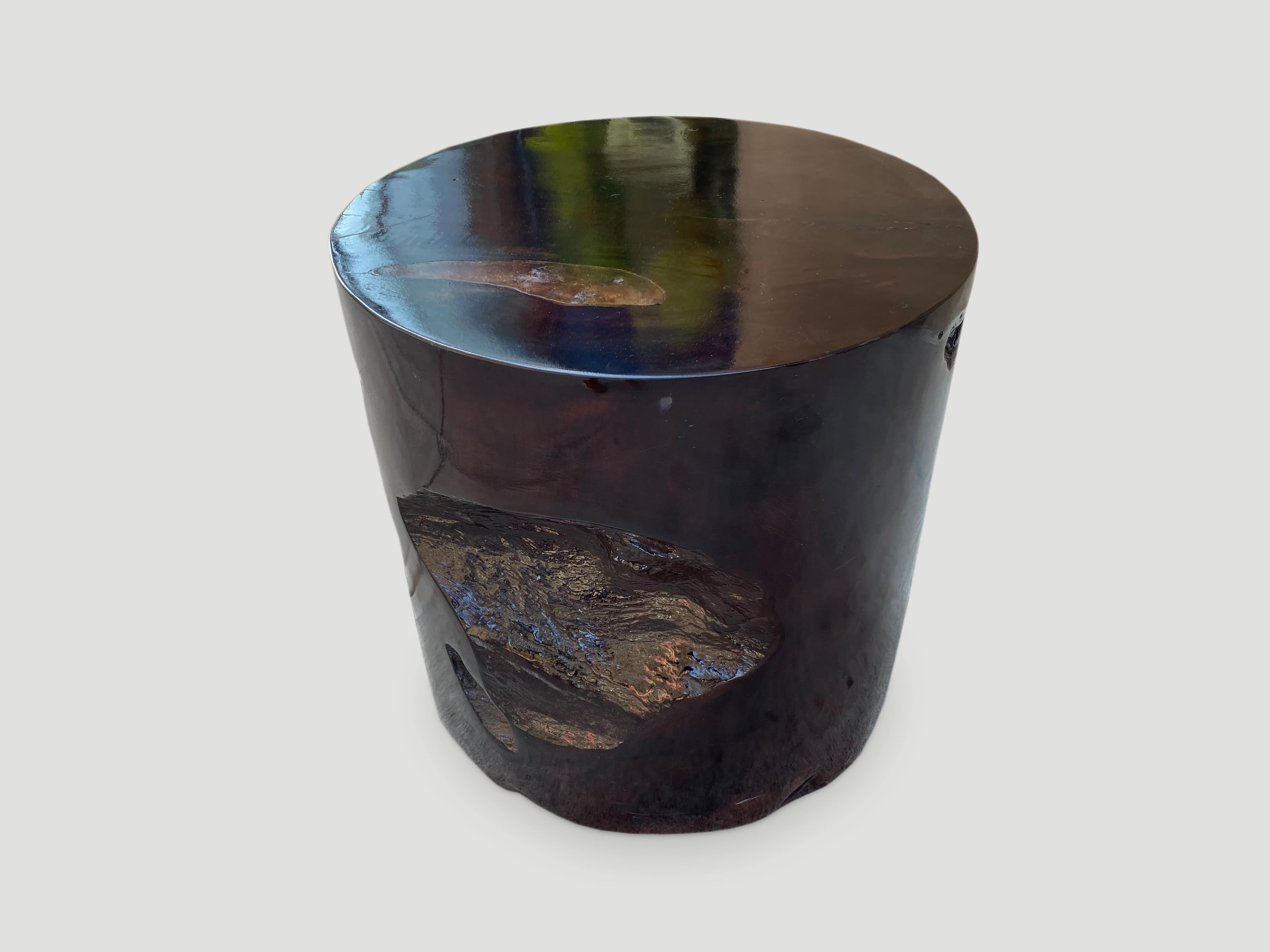 organic cracked resin side table