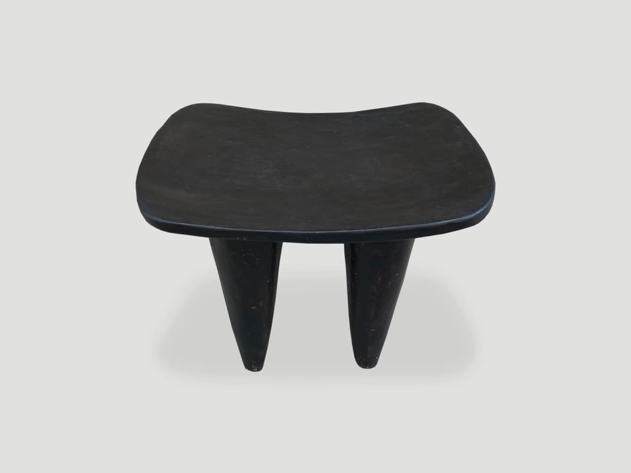 mahogany wood African side table stool or bench
